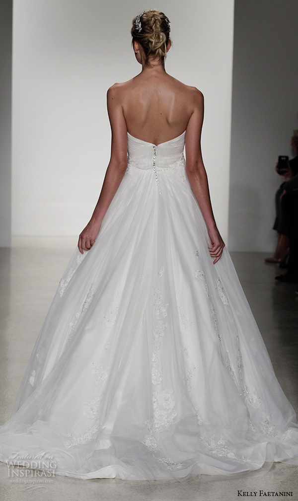 kelly faetanini fall 2016 bridal new york runway strapless sweetheart neckline tulle ball gown wedding dress pleated bodice style aslan