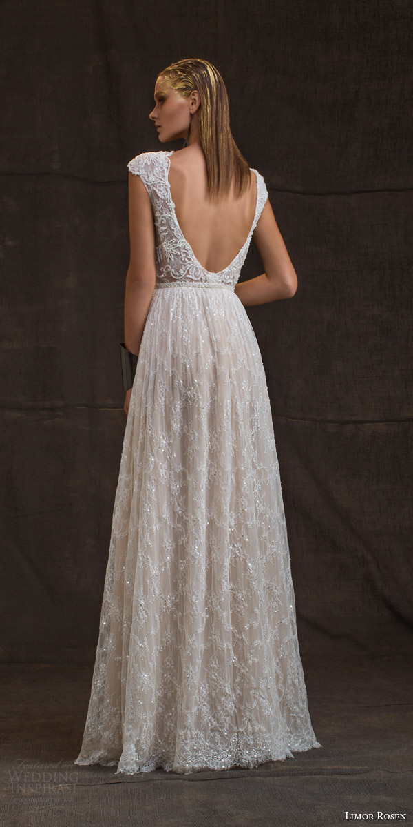 limor rosen bridal 2016 treasure anastasia wedding dress cap sleeves beaded lace blush tulle skirt beaded belt low back