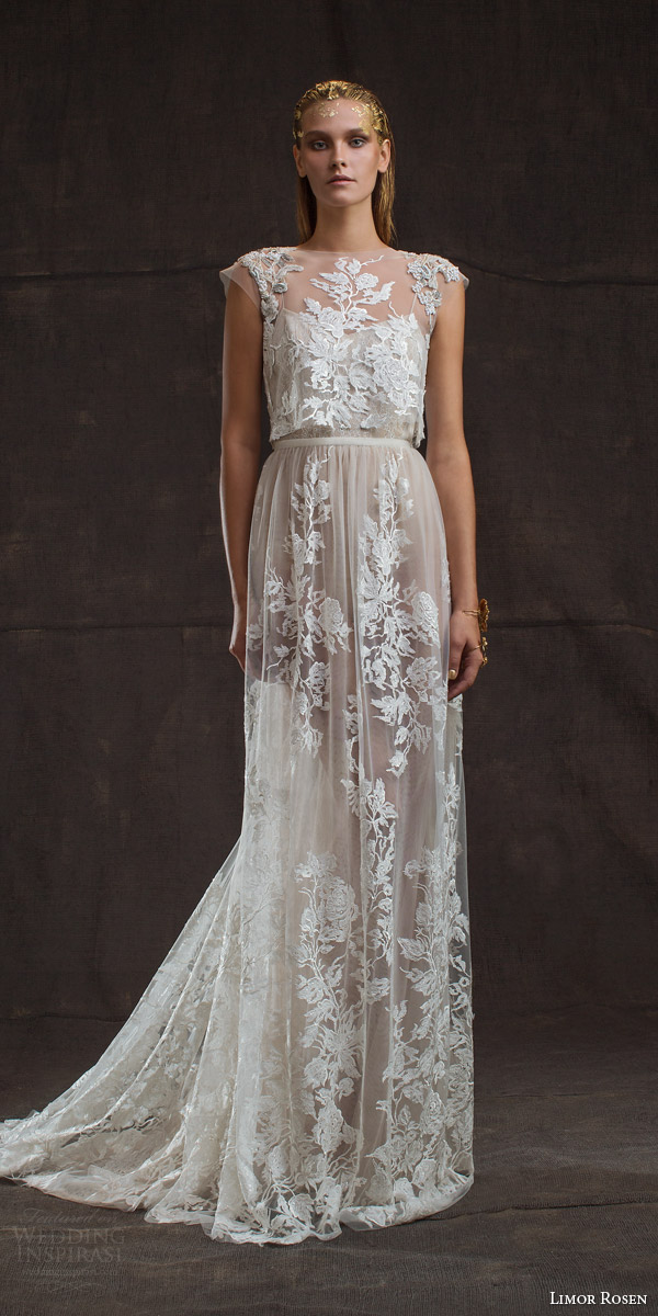 Limor rosen 2016 wedding dresses treasure bridal for Wedding dress with illusion top