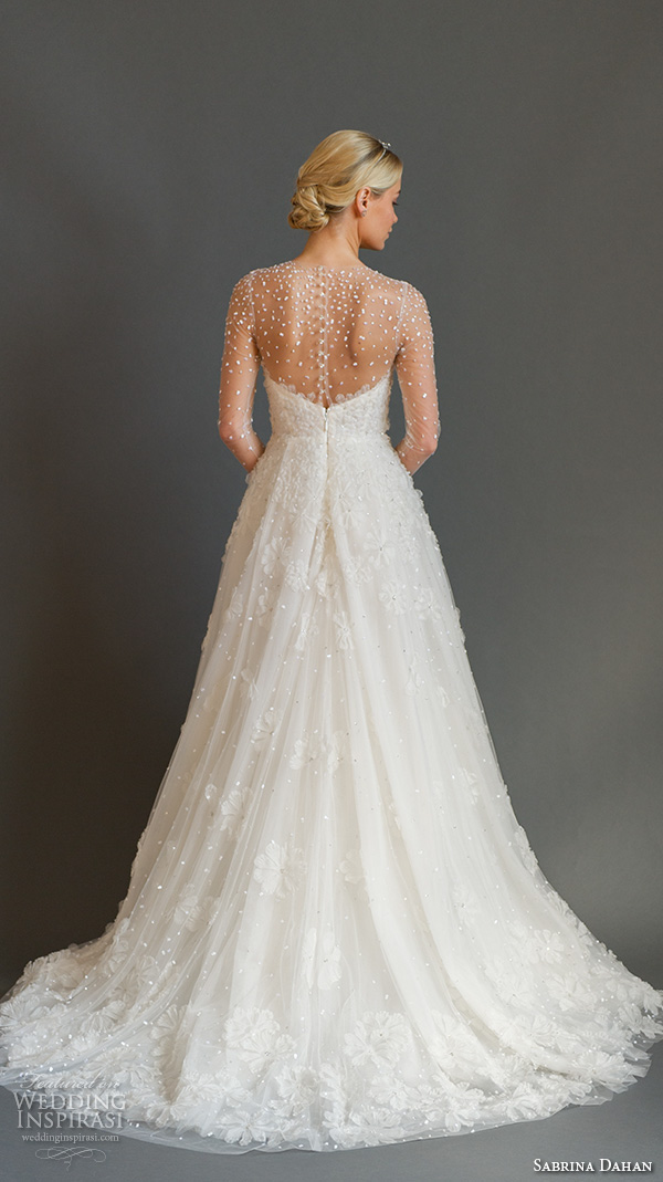 Sabrina dahan fall 2016 wedding dresses wedding inspirasi for Illusion sweetheart neckline wedding dress