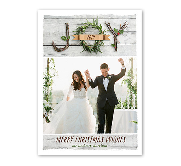 New traditions with shutterfly holiday greeting cards sponsor shutterfly just married joy christmas card holiday greeting howeholiday m4hsunfo