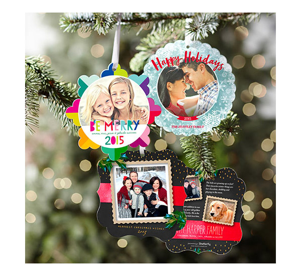 New traditions with shutterfly holiday greeting cards sponsor shutterfly unique holiday greeting cards ornamental xmas card hanging on christmas tree m4hsunfo