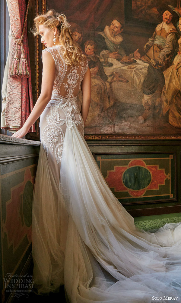 solo merav bridal gowns 2016 adriana exquisite two piece wedding dress gorgeous hand embellished details stunning back view train