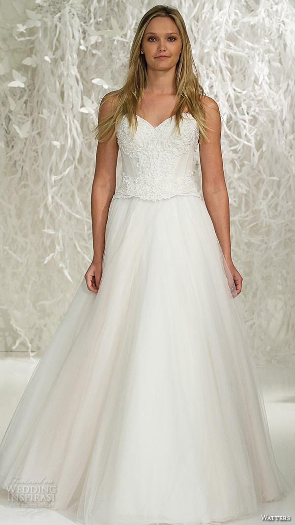 Watters brides spring 2016 wedding dresses wedding inspirasi for A line skirt wedding dress