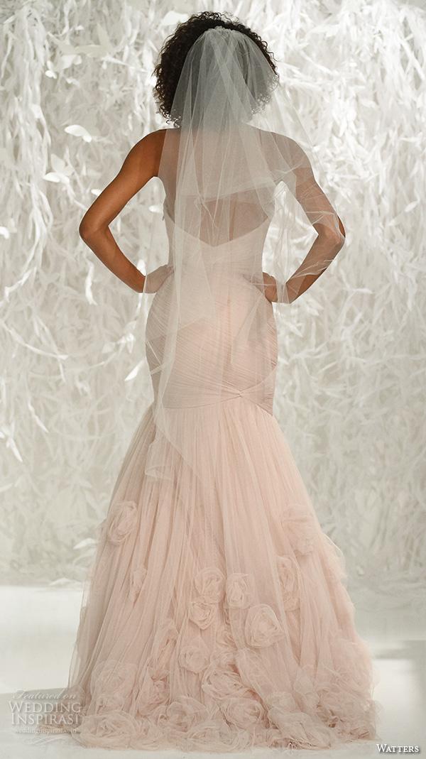 Pink Wedding Dresses Mermaid Style : Watters brides spring wedding dresses inspirasi