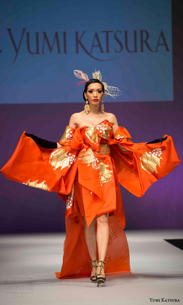 Orange Wedding Dresses 55 Fancy yumi katsura bridal fall