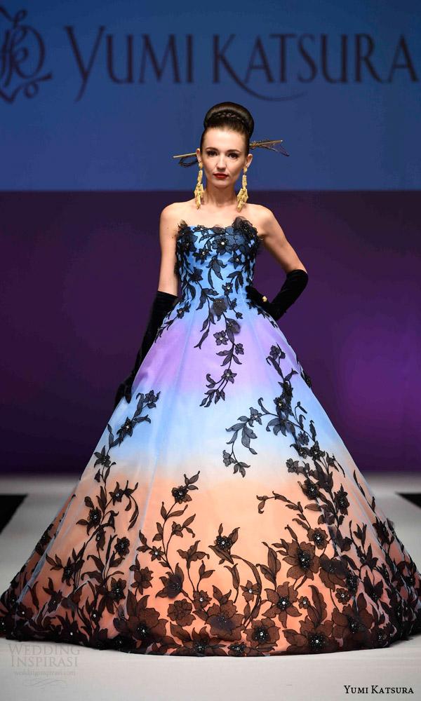 Black And Blue Wedding Dress 4 Great yumi katsura bridal fall