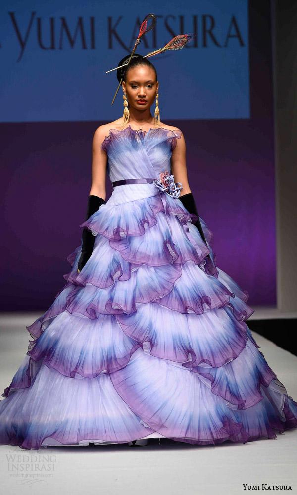 Blue And Purple Wedding Dress 1 Marvelous yumi katsura bridal fall