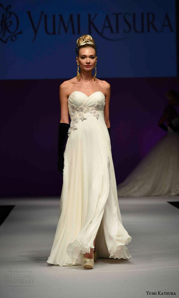 Wedding Gowns Empire Waist 34 Vintage yumi katsura bridal fall