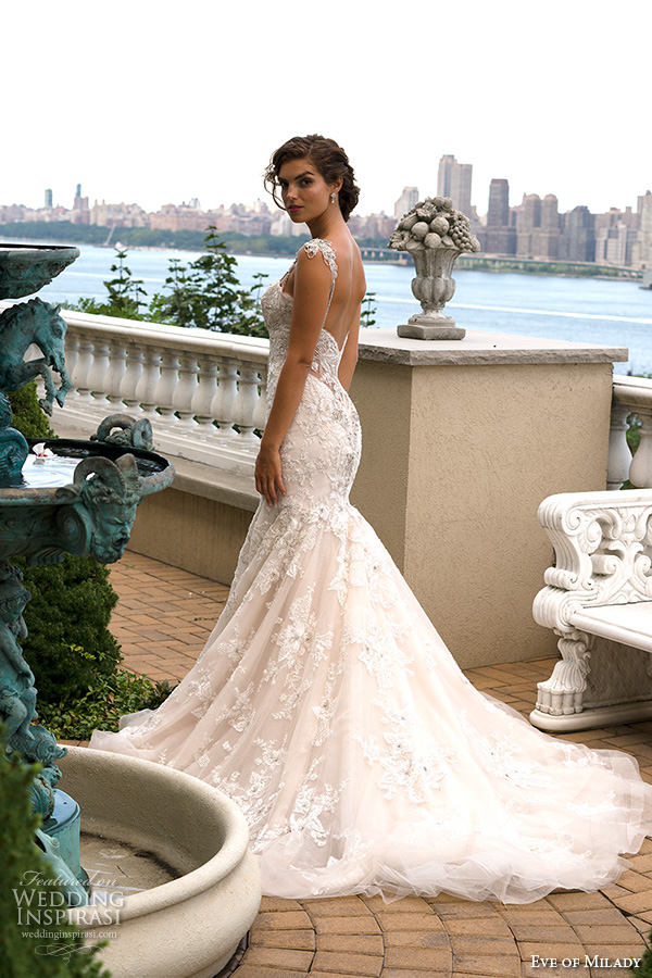 Eve of milady fall 2015 wedding dresses wedding inspirasi for Beaded lace mermaid wedding dress