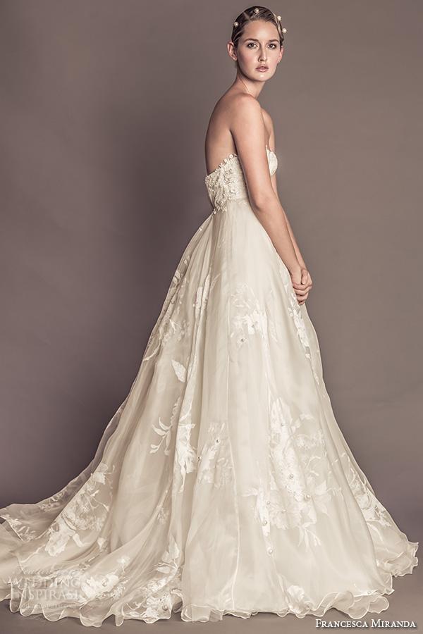 980a2535e821 francesca miranda fall 2016 bridal romantic strapless sweetheart neckline  bustier bodice pretty ball gown a line