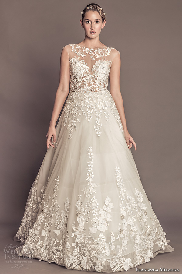 Flowery Wedding Dress 92 Elegant francesca miranda fall bridal