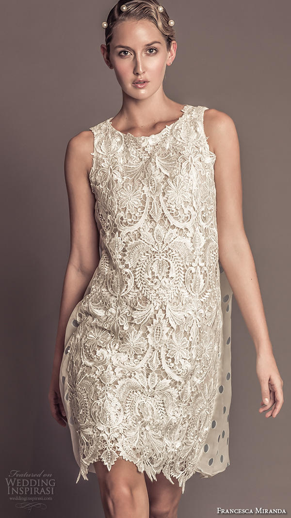 Lace Short Wedding Dress 84 Amazing francesca miranda fall bridal