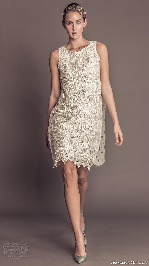 Lace Short Wedding Dress 82 Vintage francesca miranda fall bridal