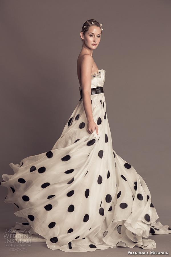 Polka Dot Wedding Gown 16 Fresh francesca miranda fall bridal