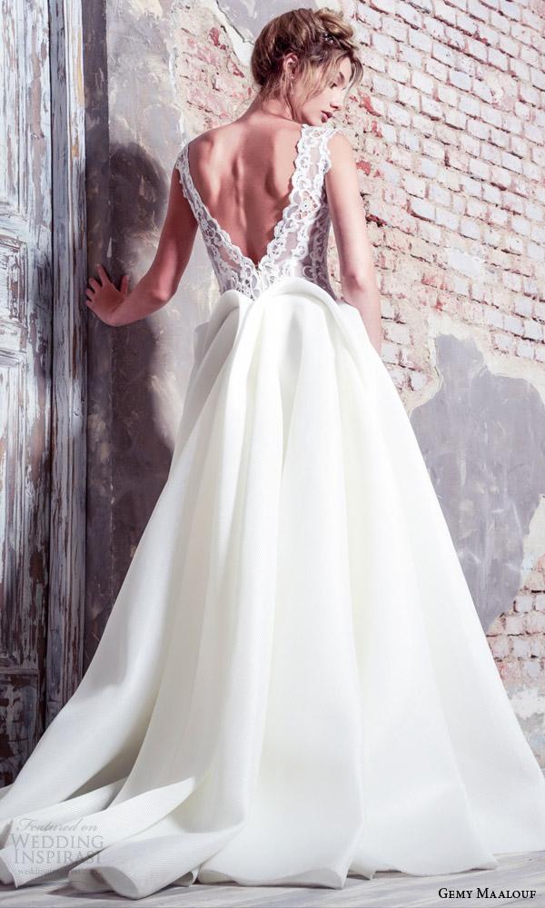 Gemy maalouf bridal 2016 wedding dresses crazyforus for Peplum dresses for weddings