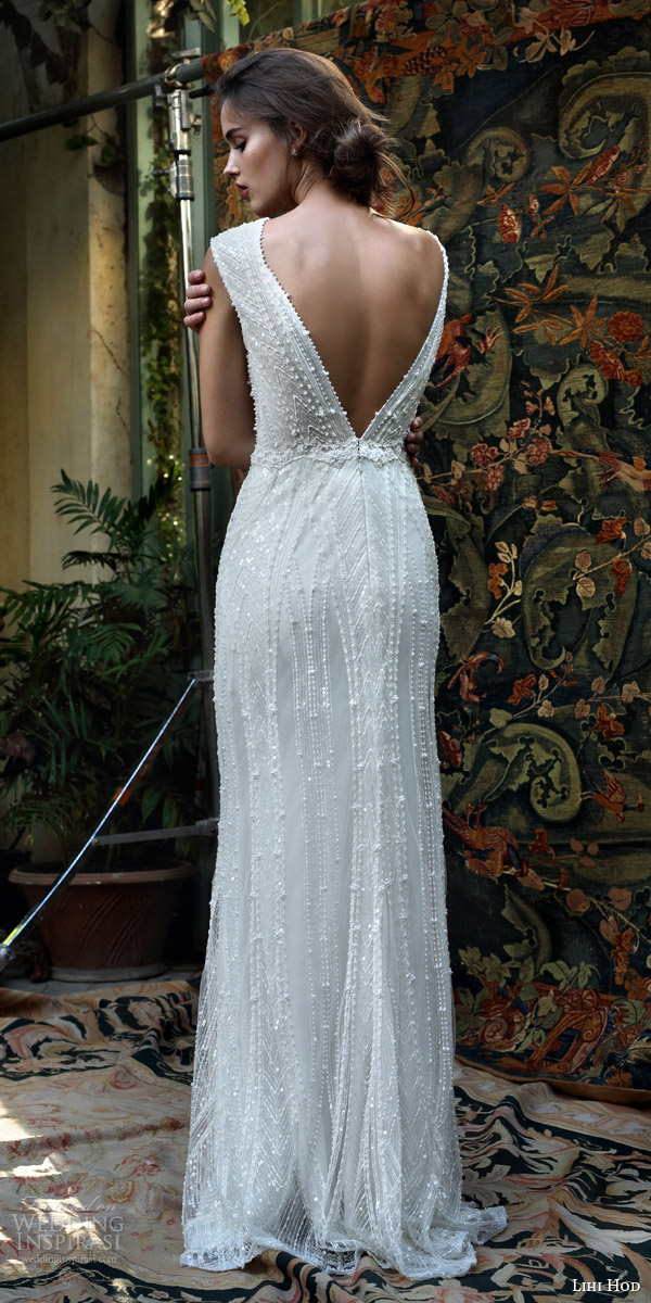 25271509ef5 lihi hod bridal 2016 mia cap sleeve beaded v neck wedding dress bodice deep  open back
