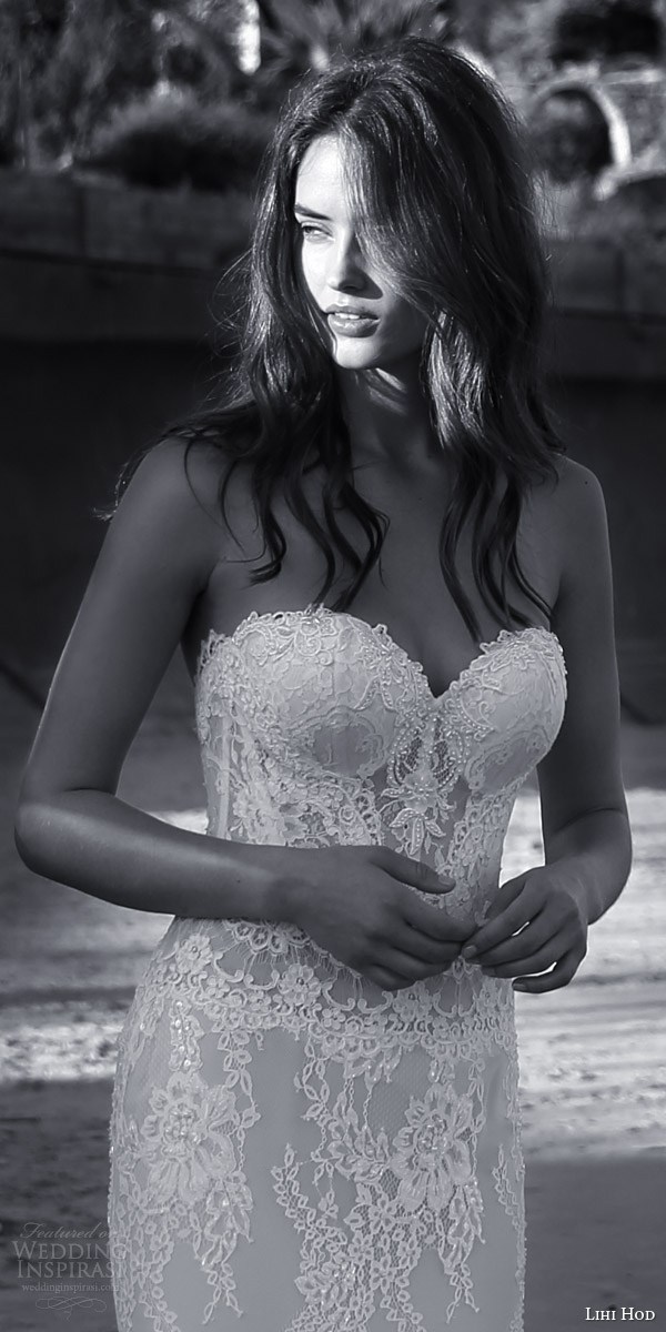 lihi hod bridal 2016 sienna sophisticated lace sheath wedding dress sweetheart neckline sexy bridal look