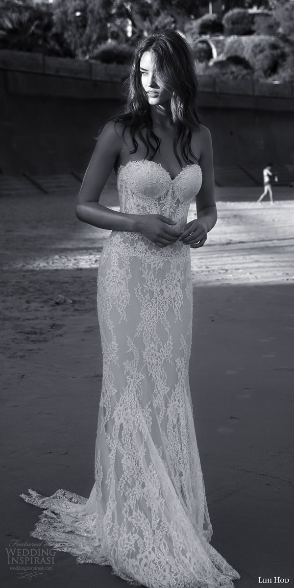 lihi hod bridal 2016 sienna sophisticated lace sheath wedding dress sweetheart neckline