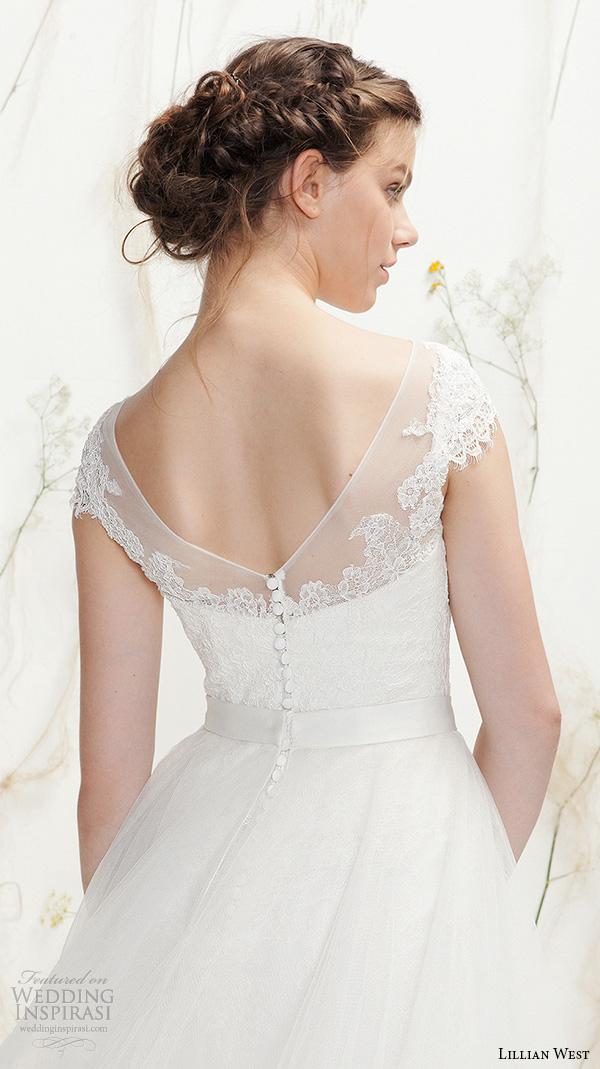 Illusion Neck Wedding Dress 70 Perfect lillian west spring bridal