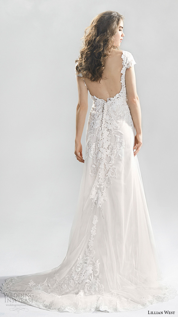 Lace Wedding Dress With Cap Sleeves Style D1919 : Lillian west spring wedding dresses inspirasi