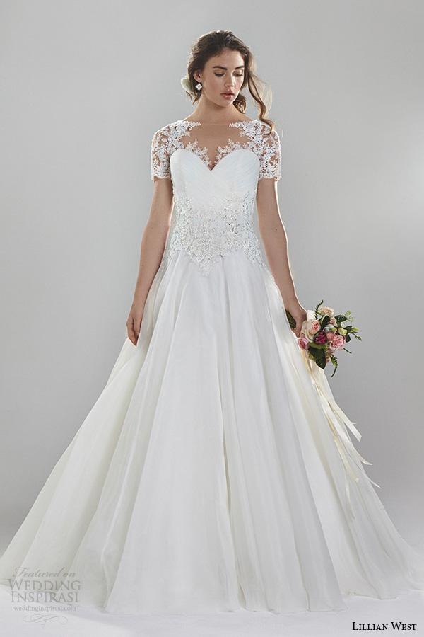 Lillian west spring 2016 wedding dresses wedding for Short spring wedding dresses