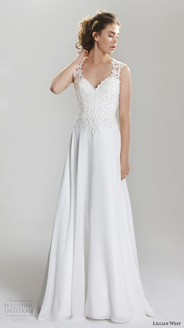 Lillian west spring 2016 wedding dresses wedding inspirasi for A line wedding dresses sweetheart neckline
