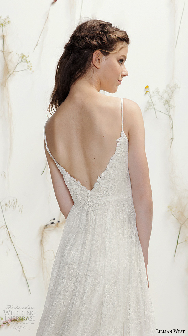 Lillian west spring 2016 wedding dresses wedding inspirasi for Lace a line wedding dress with sweetheart neckline