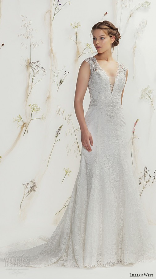 ac5d0b33257f lillian west gorgeous wedding dresses from spring 2016 bridal collection  stunning illusion lace back gown