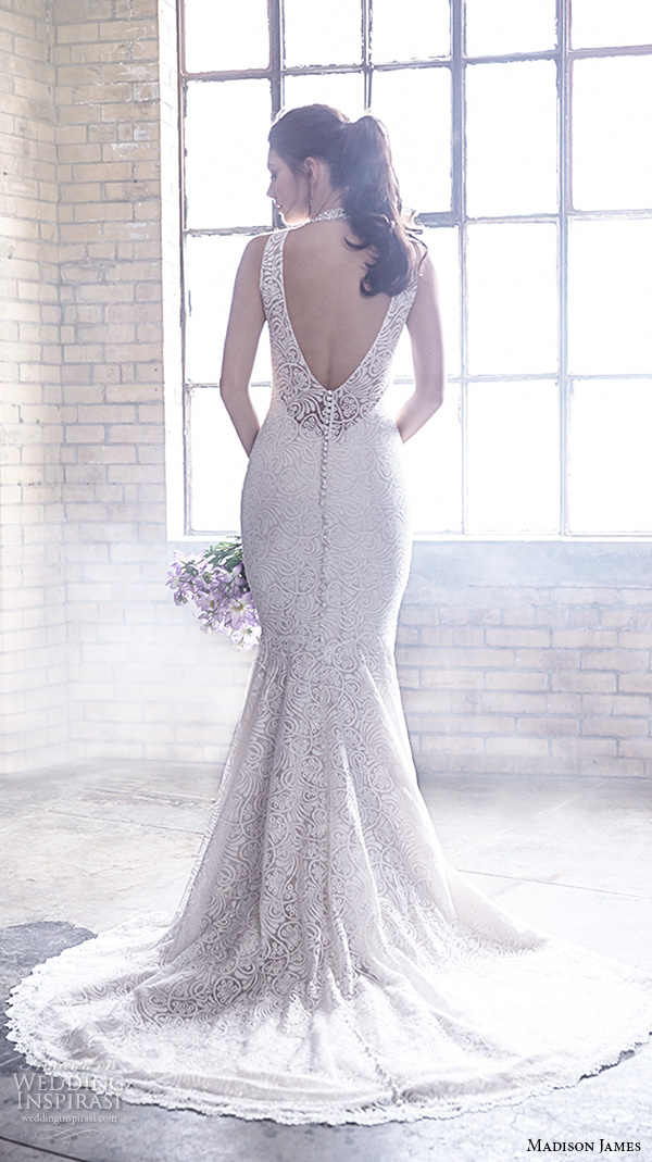 Madison james bridal fall 2015 wedding dresses wedding for Mermaid halter wedding dresses