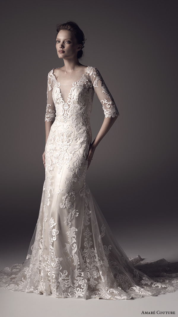 Wedding Dress Removable Lace Overlay : Amar? couture spring wedding dresses inspirasi