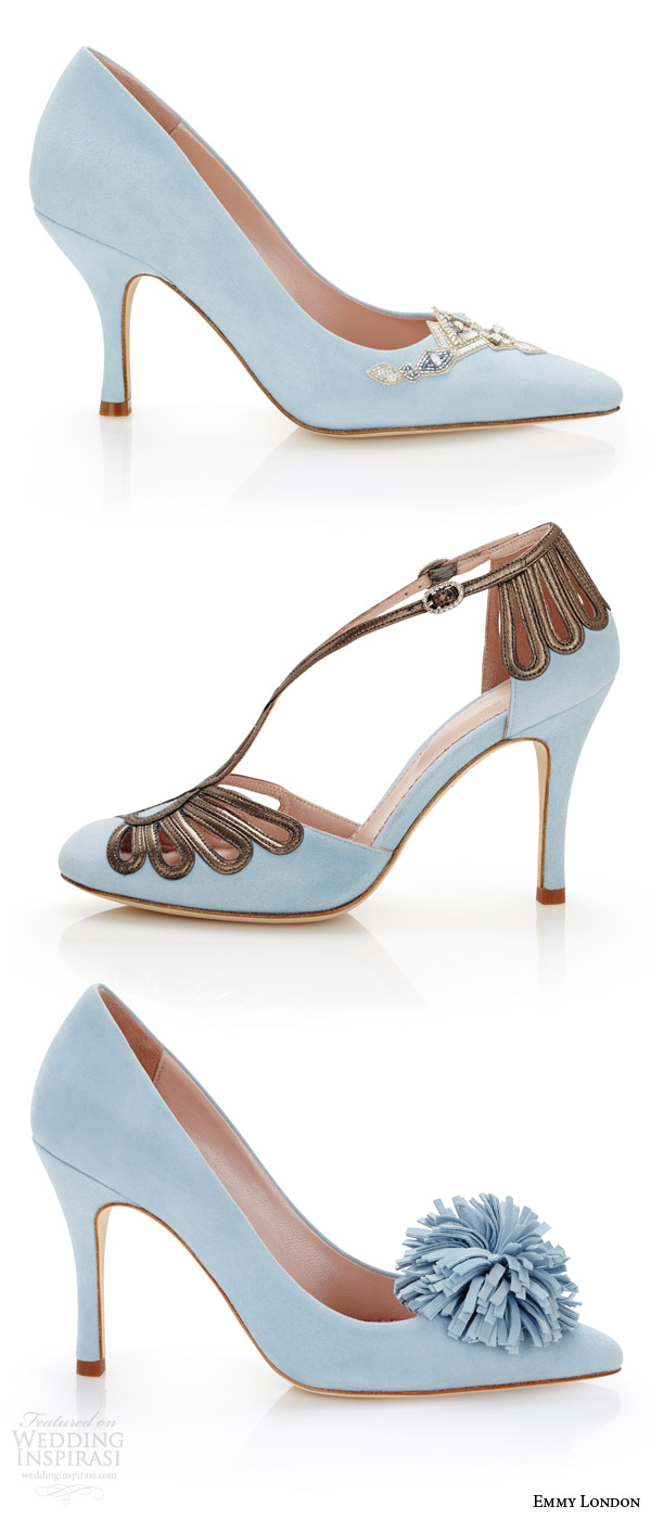 Emmy London Color Wedding Shoes Duck Egg Blue Bridal Delphine Pointed Toe Chloe Closed