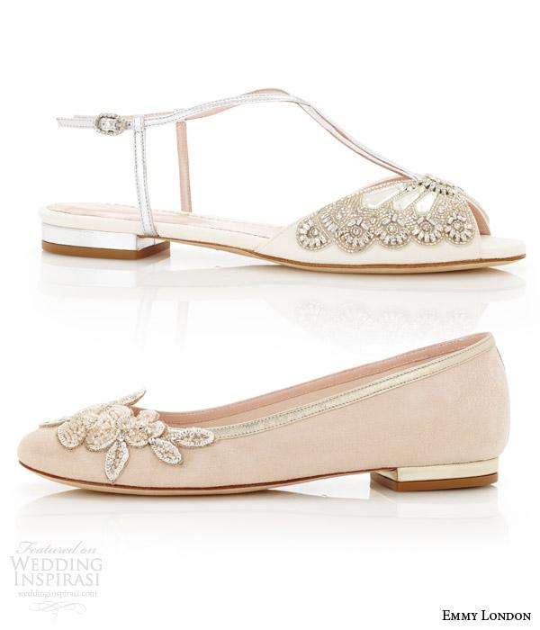 Silver Wedding Shoes 95 Beautiful emmy london flat wedding