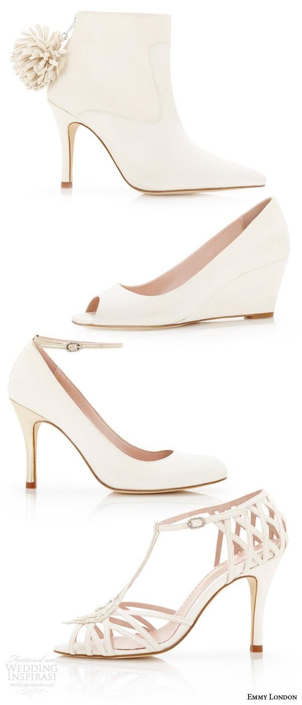 Low Heel Wedding Shoes 51 Fabulous emmy london white wedding