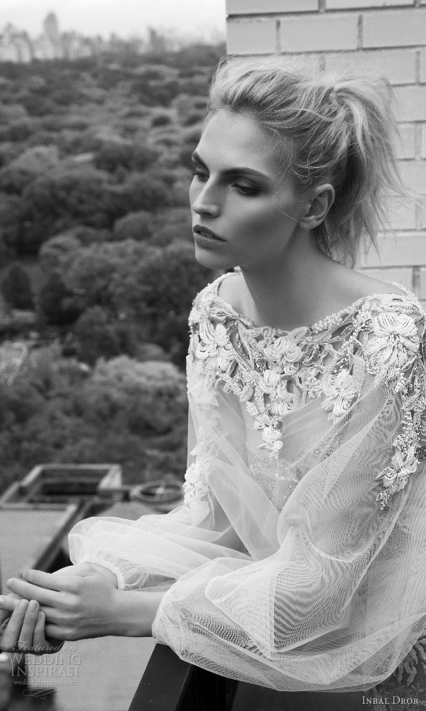 inbal dror 2016 strapless sweetheart mermaid wedding dress heavily embellished bodice style 14 train illusion cape