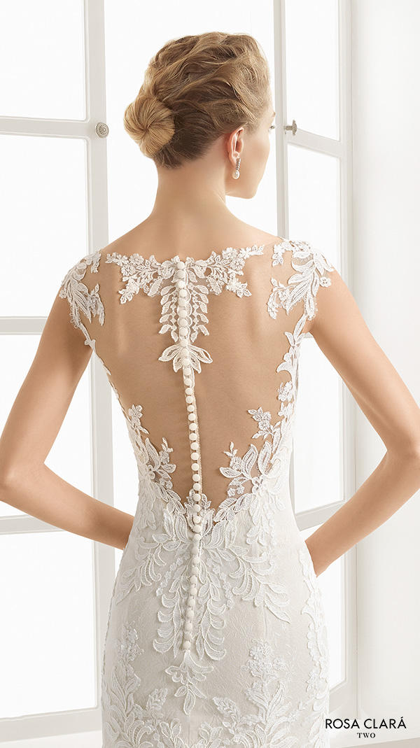 Rosa clar two 2016 wedding dresses wedding inspirasi for Lace sweetheart wedding dress cap sleeves