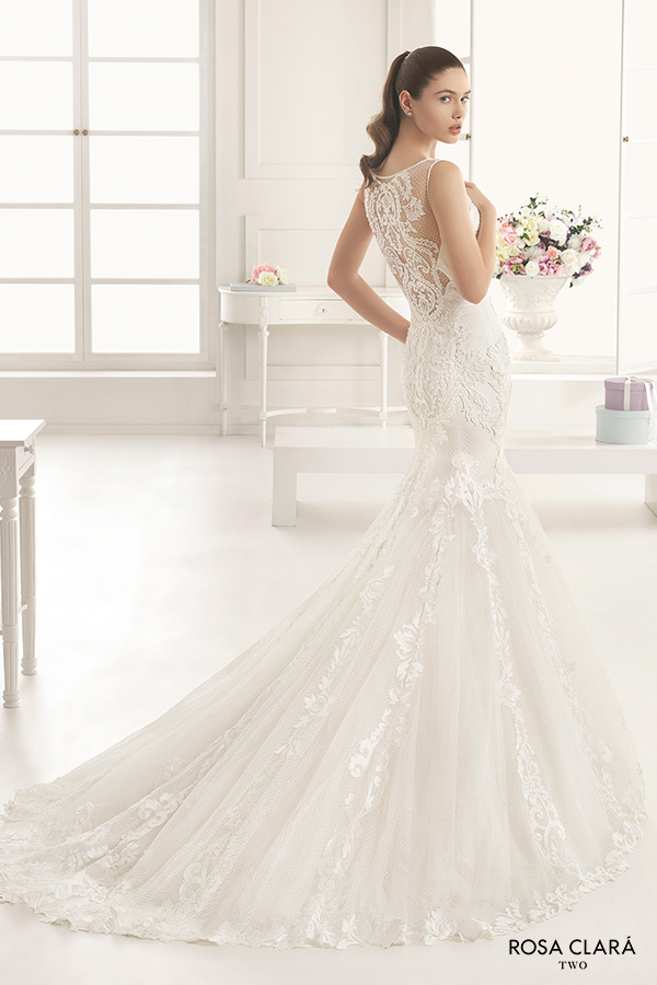 Rosa clar two 2016 wedding dresses wedding inspirasi for Illusion sweetheart neckline wedding dress