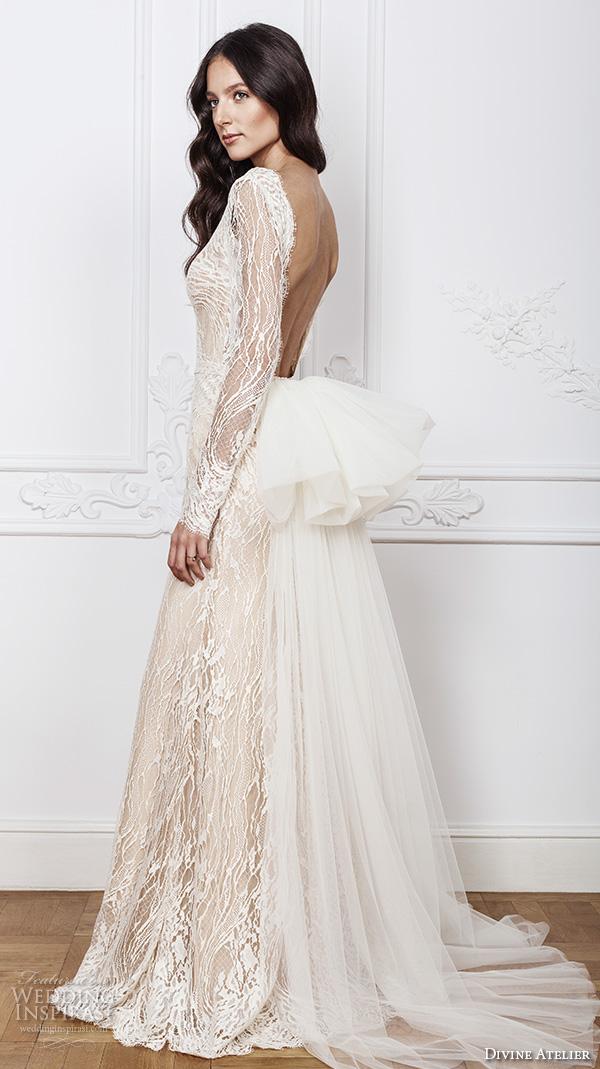 7c49e6598 divine atelier 2016 bridal gowns lace sheer long sleeves deep plunging v  neck fully embellished vintage
