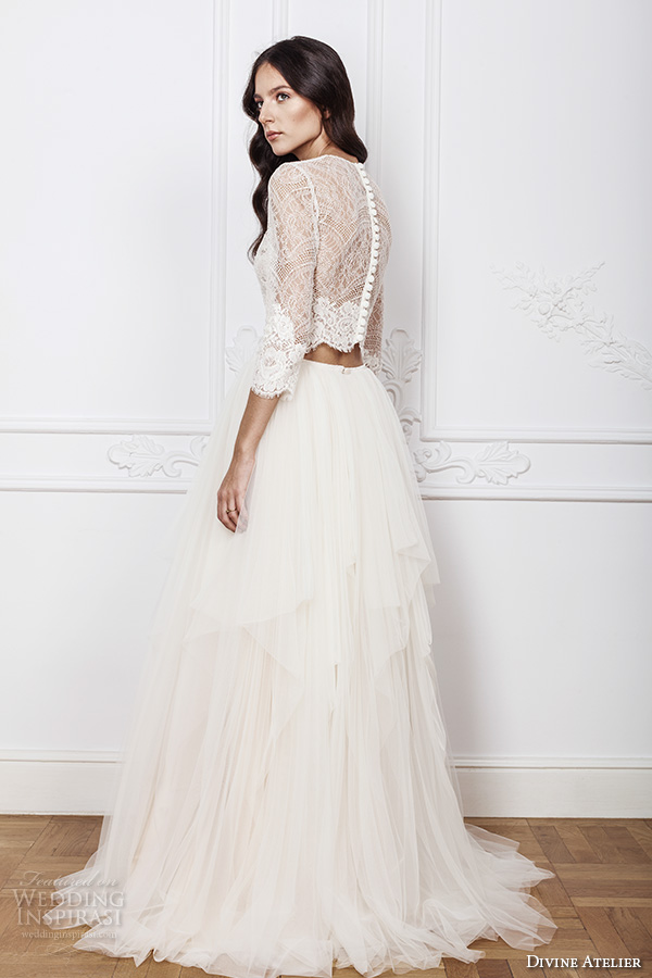 Divine atelier 2016 wedding dresses wedding inspirasi for Crop top wedding dress