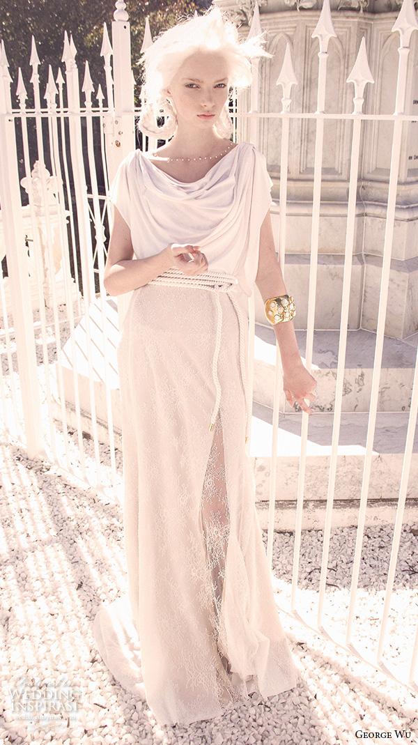 Grecian Wedding Gown 73 Inspirational george wu bridal gowns