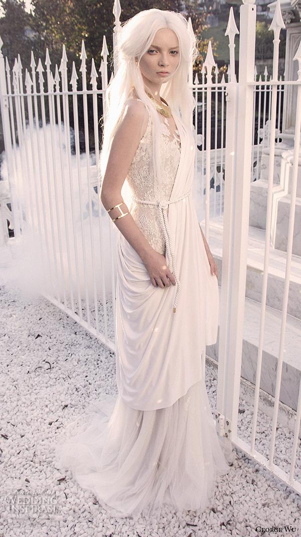 Grecian Wedding Gown 19 Popular george wu bridal gowns