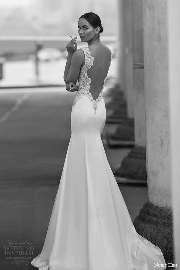 nurit hen 2016 bridal flutter sleeveless split sweetheart trumpet wedding dress (17) bv open back