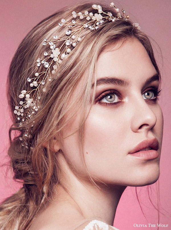Olivia The Wolf Headpieces 2016 Bridal Accessories Daphne Opal Crystal Wedding Headband Hair Style