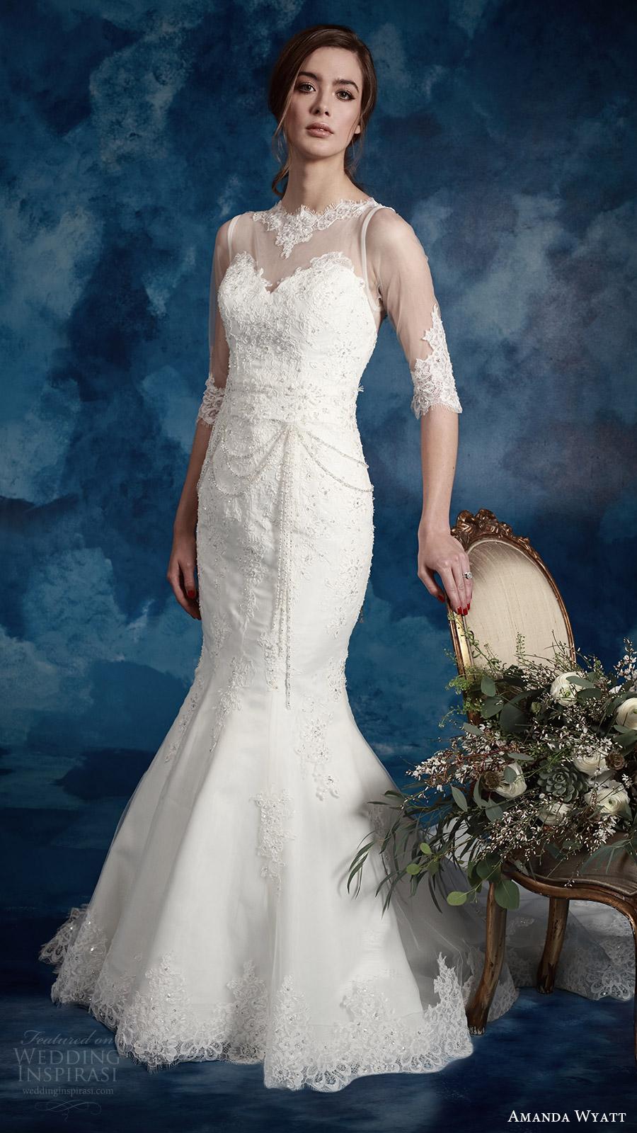 Plus Size Mermaid Wedding Gown 77 Lovely amanda wyatt bridal illusion