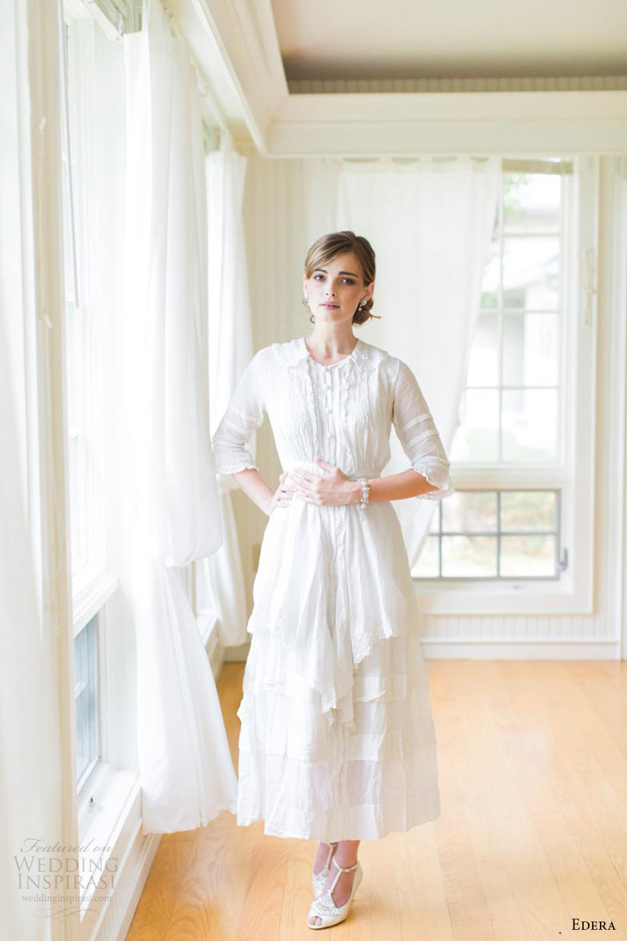 edera jewelry 2016 aquarelle bridal accessories collection love mood ashley largesse vintage gown bride bella belle shoes