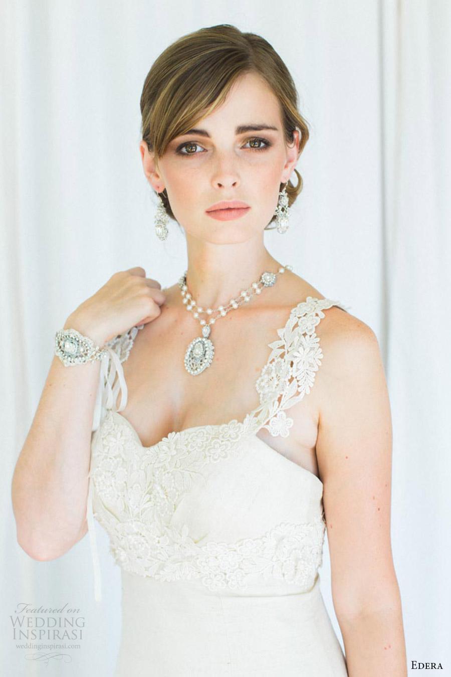 Edera jewelry 2016 aquarelle bridal accessories for Bracelet for wedding dress