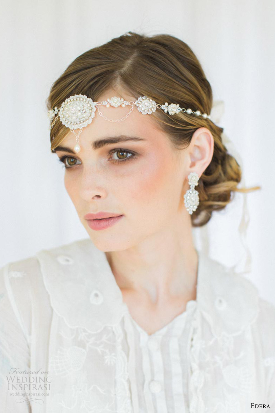 edera jewelry 2016 bridal accessories collection (amandine) earrings halo