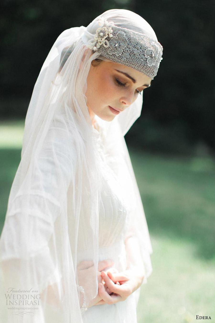edera jewelry 2016 bridal accessories collection aquarelle (camille) bandeau headband heirloom edwardian style vintage bride