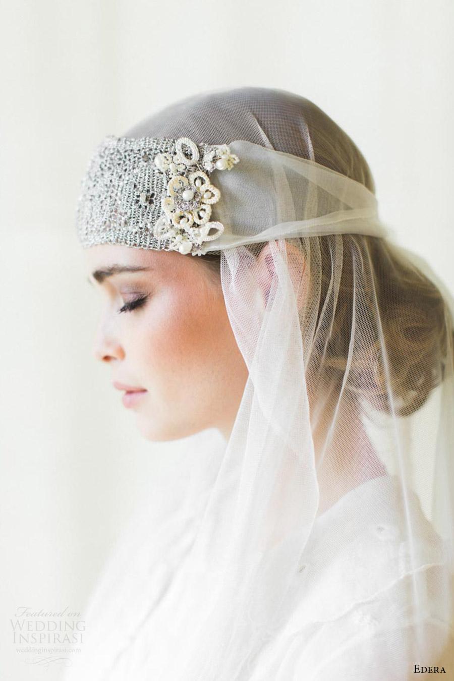 edera jewelry 2016 bridal accessories collection aquarelle (camille) bandeau headband sv