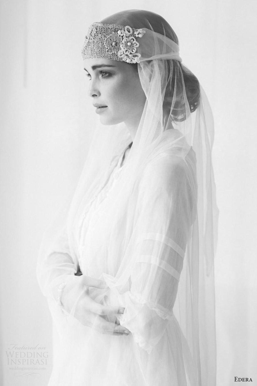 edera jewelry 2016 bridal accessories collection aquarelle (camille) bandeau headband sv bw